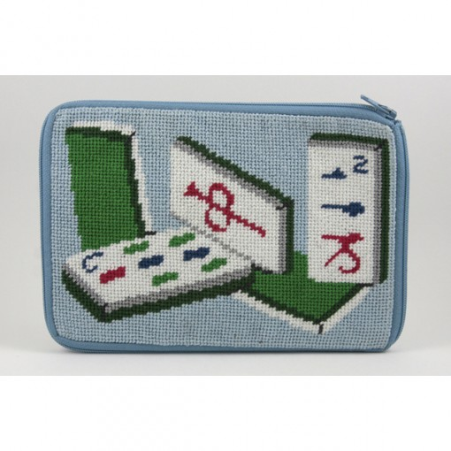 click here to view larger image of Stitch and Zip Mah Jongg Purse (stitch n zip needlepoint)