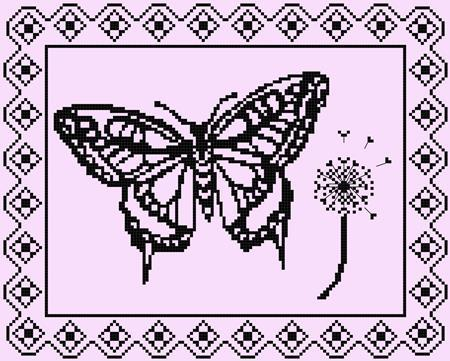 click here to view larger image of Breezy Monochrome Butterfly (chart)