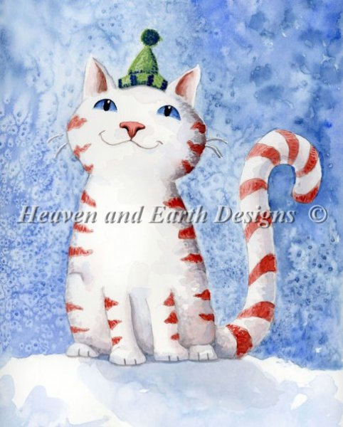 click here to view larger image of Candy Cane Cat (chart)