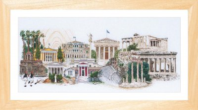 Athens - Linen - click here for more details about counted cross stitch kit