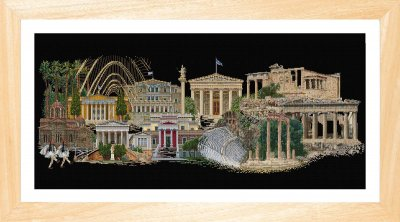 click here to view larger image of Athens - On Black (counted cross stitch kit)