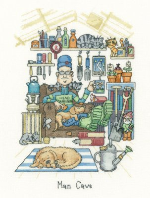 Man Cave - Cats Rule (Aida) - click here for more details about counted cross stitch kit