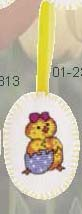 click here to view larger image of Chick Around Egg Ornament (counted cross stitch kit)