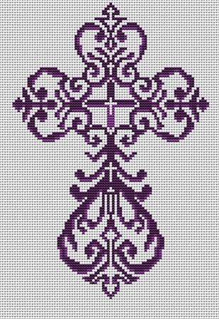 click here to view larger image of Filigree Cross (chart)