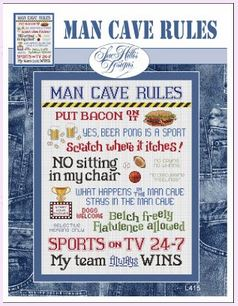 click here to view larger image of Man Cave Rules (chart)