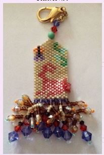 click here to view larger image of Red Rabbits Fob (bead kit)