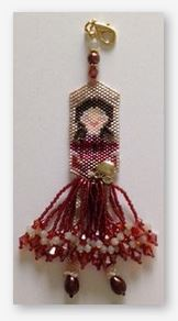 click here to view larger image of Felicity Rose - A School Girl Fob (bead kit)