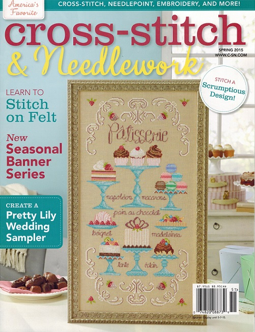 click here to view larger image of Cross Stitch & Needlework Magazine - Spring 2015 (magazines)
