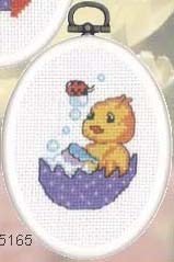 click here to view larger image of Chick Bathes (counted cross stitch kit)