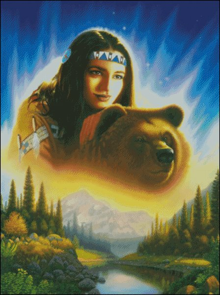 click here to view larger image of Indian Girl With Bear (chart)