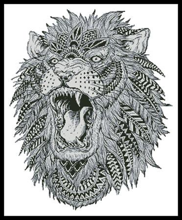 click here to view larger image of Abstract Lion (chart)