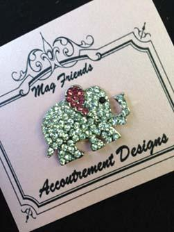 click here to view larger image of Glamorous Elephant Magnet (accessory)