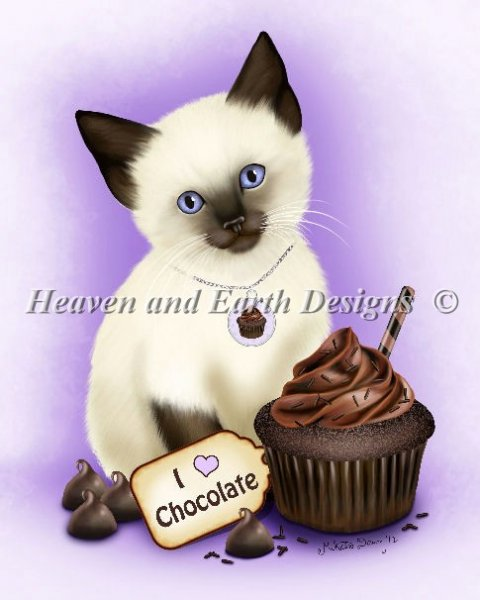 click here to view larger image of Chocolate Cupcake Kitten (chart)
