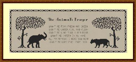 click here to view larger image of Animals Prayer, The (chart)