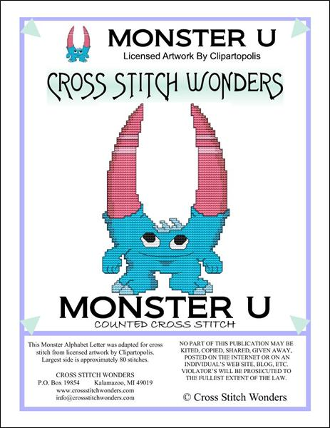 click here to view larger image of Monster Letter U (chart)