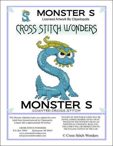 click here to view larger image of Monster Letter S (chart)