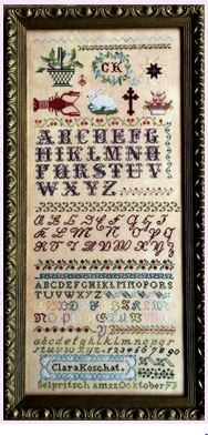 click here to view larger image of Clara Koschat - An 1873 Austrian Sampler (chart)