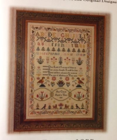 click here to view larger image of Ann Croxen 1833 Sampler (chart)