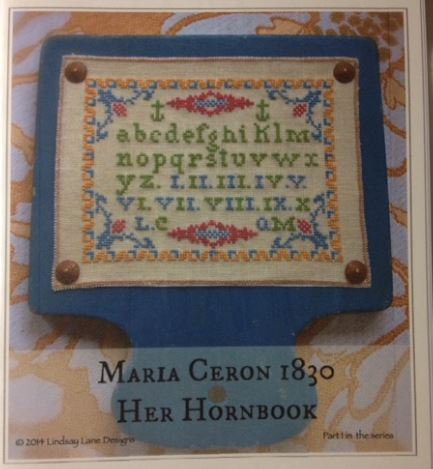 click here to view larger image of Maria Ceron 1830 Her Hornbook (chart)