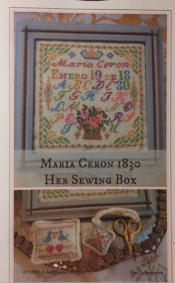 click here to view larger image of Maria Ceron 1830 Her Sewing Box (chart)
