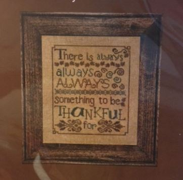 Always Thankful (Cross Stitch) Chart Only - click here for more details about chart