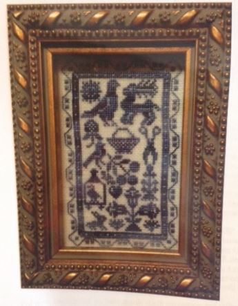click here to view larger image of French Blue Tudor Sampler (counted cross stitch kit)