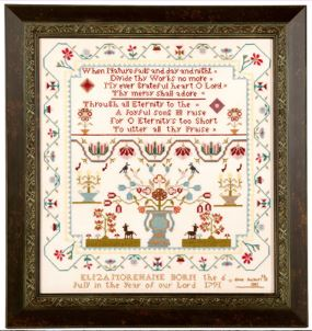 click here to view larger image of Eliza Morehane 1803 Sampler (chart)