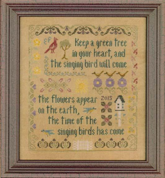 click here to view larger image of Antique Songbird Sampler (chart)