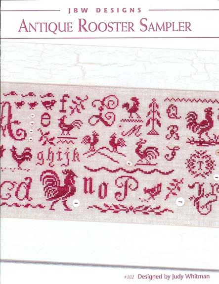 click here to view larger image of Antique Rooster Sampler (chart)