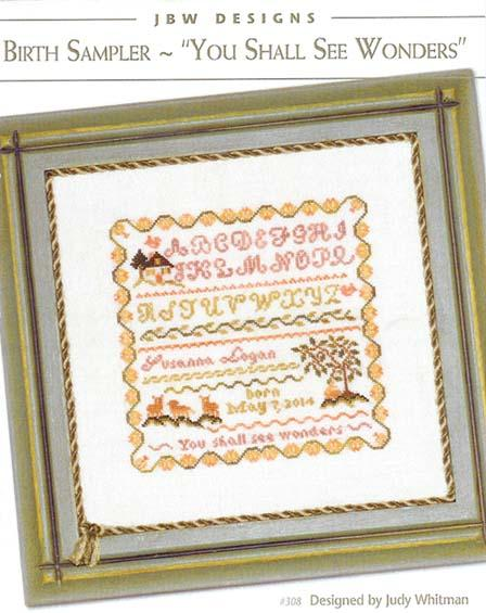 click here to view larger image of You Shall See Wonders Birth Sampler (chart)