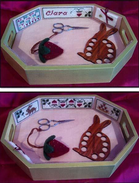 click here to view larger image of Strawberry Patch Needlework Tray (chart)