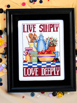 click here to view larger image of Live Simply Love Deeply (chart)