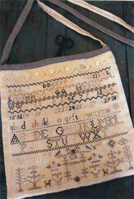 click here to view larger image of Buttermilk and Blue Sampler Sewing Bag (chart)