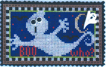 click here to view larger image of March Ornament - Boo Who (chart with charms/buttons)