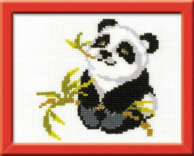 click here to view larger image of Panda - Happy Bee (counted cross stitch kit)