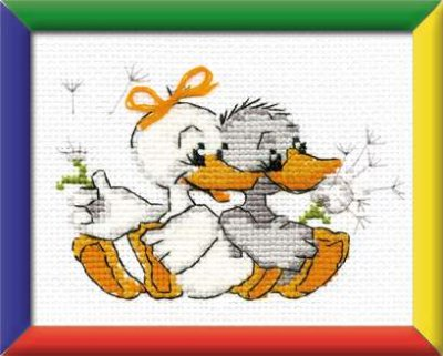 click here to view larger image of Grandamas Merry Geese - Happy Bee (counted cross stitch kit)
