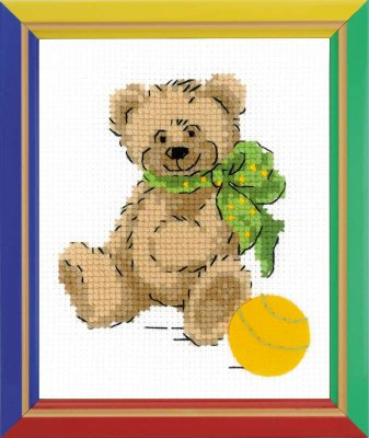 click here to view larger image of Bear - Happy Bee (counted cross stitch kit)