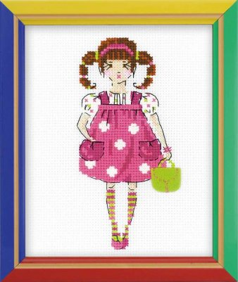 click here to view larger image of Dolly - Happy Bee (counted cross stitch kit)