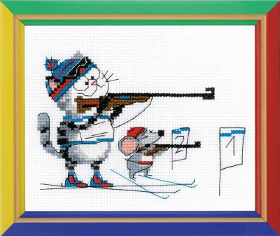 click here to view larger image of Biathlon - Happy Bee (counted cross stitch kit)
