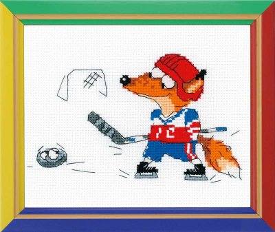 click here to view larger image of Ice Hocky - Happy Bee (counted cross stitch kit)