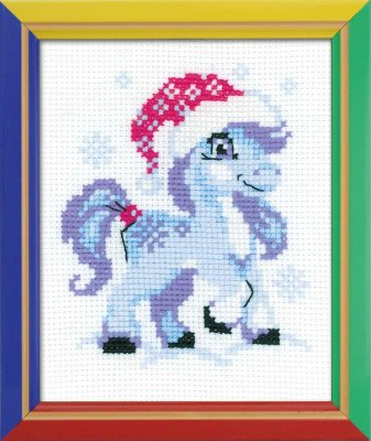 click here to view larger image of Gentle Snow - Happy Bee (counted cross stitch kit)