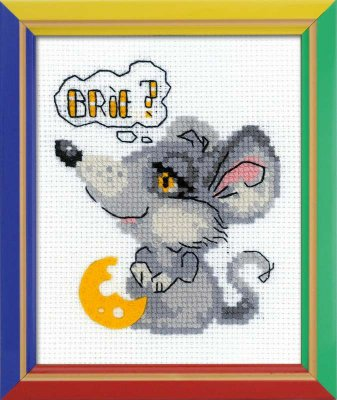 click here to view larger image of Dreamy Mouse - Happy Bee (counted cross stitch kit)