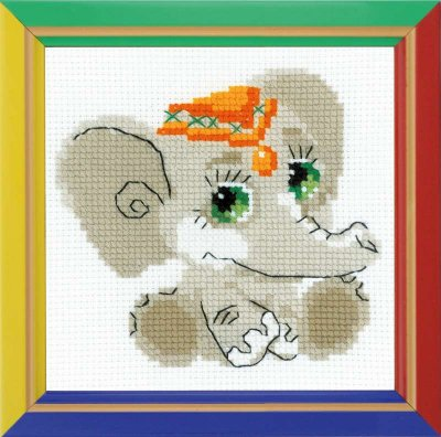 click here to view larger image of Baby Elephant - Happy Bee (counted cross stitch kit)