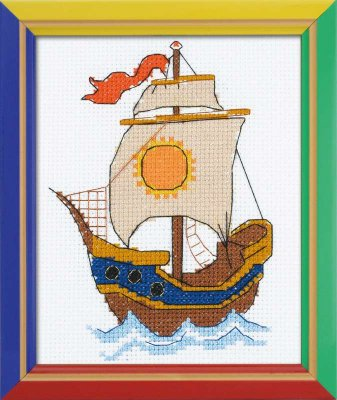 click here to view larger image of On The Waves  - Happy Bee (counted cross stitch kit)