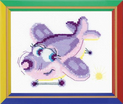 click here to view larger image of Birdie  - Happy Bee (counted cross stitch kit)