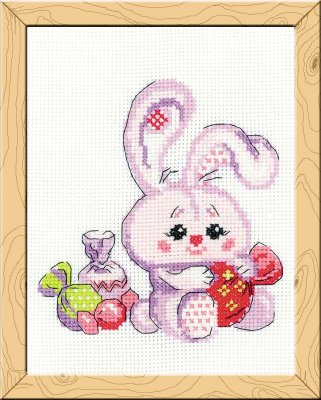click here to view larger image of Bunny With A Candy - Happy Bee (counted cross stitch kit)
