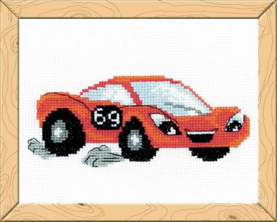 click here to view larger image of Lightning - Happy Bee (counted cross stitch kit)