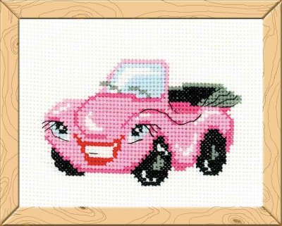 click here to view larger image of Cabriolet - Happy Bee (counted cross stitch kit)