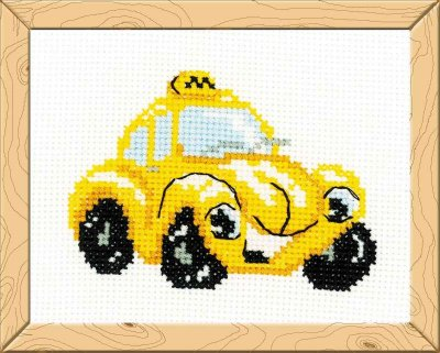 click here to view larger image of Taxi - Happy Bee (counted cross stitch kit)