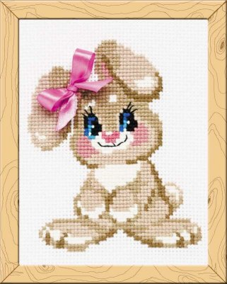 click here to view larger image of Baby Rabbit - Happy Bee (counted cross stitch kit)